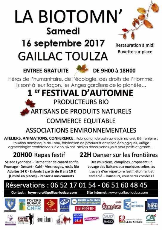 16 septembre - la biotomn' - festival bio à Gaillac-Toulza